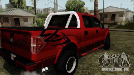 Ford F150 Off Road para GTA San Andreas esquerda vista