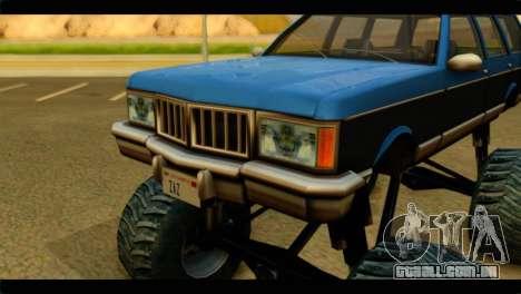 Monster Regina para GTA San Andreas vista traseira
