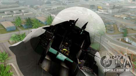 F-16C Jastrzab para GTA San Andreas vista traseira