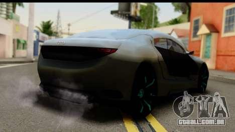 Audi A9 Concept para GTA San Andreas esquerda vista