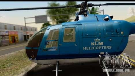 MBB Bo-105 KLM para GTA San Andreas vista direita