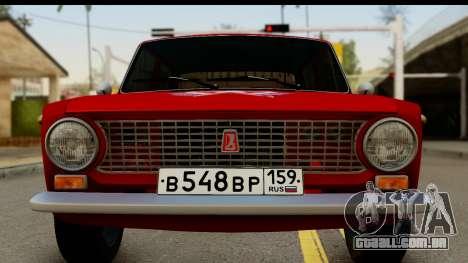 VAZ 2101 FOX para GTA San Andreas traseira esquerda vista