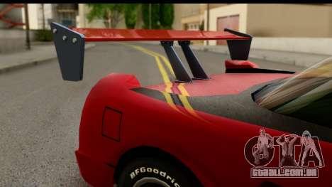 Tuned Infernus para GTA San Andreas vista direita