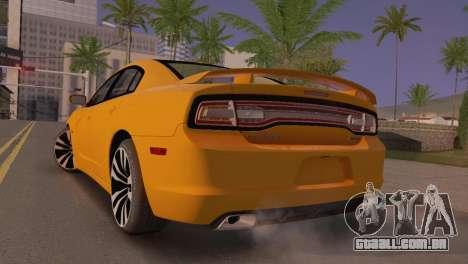Dodge Charger SRT8 2012 Stock Version para GTA San Andreas traseira esquerda vista