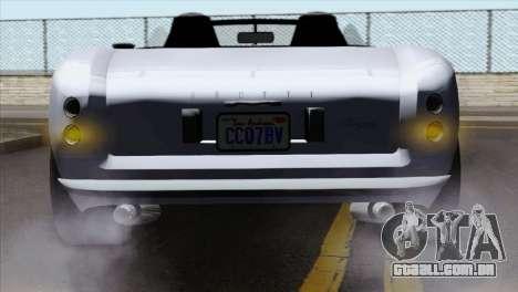 GTA 5 Grotti Stinger v2 IVF para GTA San Andreas vista traseira