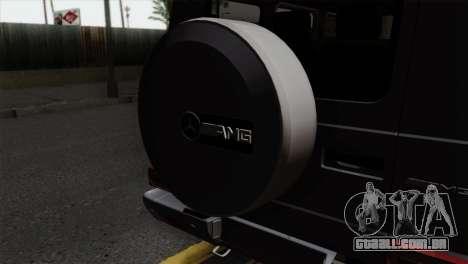 Mercedes-Benz G65 AMG Carbon Edition para GTA San Andreas vista traseira