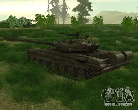 T-72 para GTA San Andreas vista direita