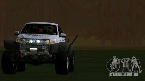 VAZ 2190 Conceder para GTA San Andreas vista traseira