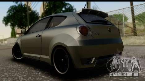 Alfa Romeo Mito Tuning para GTA San Andreas esquerda vista
