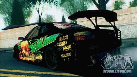 Nissan Silvia S15 Itasha para GTA San Andreas esquerda vista