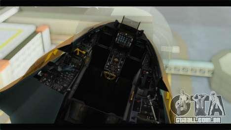F-16A Netz para GTA San Andreas vista traseira