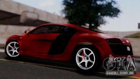 Audi R8 V10 v1.0 para GTA San Andreas esquerda vista