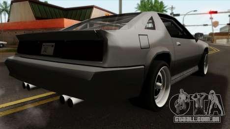 Buffalo Supercharged para GTA San Andreas esquerda vista