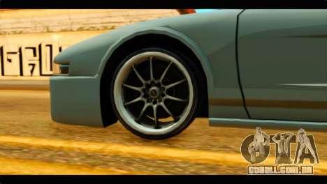 Infernus Rapide GTS Stock para GTA San Andreas traseira esquerda vista