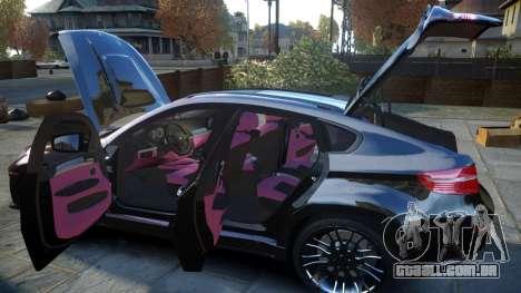 HAMANN BMW X6 2011 Tycoon EVO M v1.0 TSE para GTA 4 vista superior