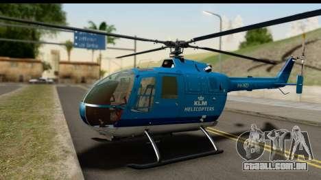 MBB Bo-105 KLM para GTA San Andreas