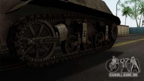 T57 Self Propelled Gun para GTA San Andreas traseira esquerda vista