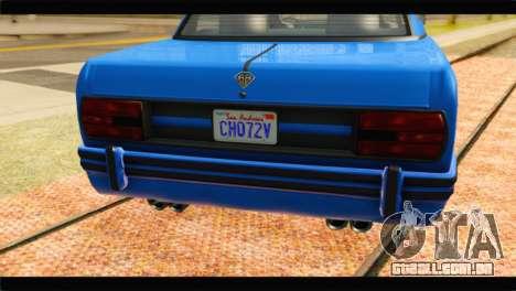 GTA 5 Benefactor Glendale Special para GTA San Andreas vista traseira