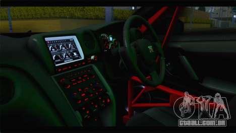 Nissan Skyline GTR Rockstar Energy para GTA San Andreas vista traseira