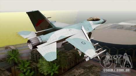 F-16C TNI Angkatan Udara para GTA San Andreas esquerda vista