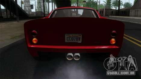 GTA 5 Grotti Stinger GT v2 IVF para GTA San Andreas vista traseira