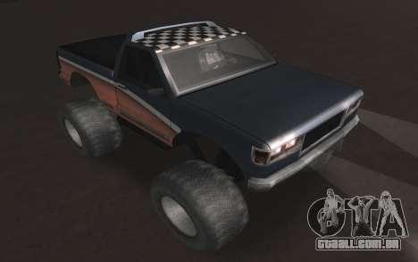 Novas texturas Final do Monstro para GTA San Andreas vista direita
