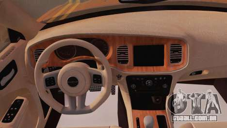 Dodge Charger SRT8 2012 Stock Version para GTA San Andreas vista traseira