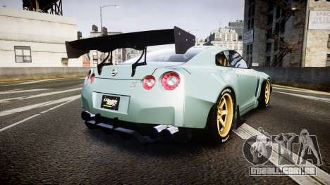 Nissan GT-R R35 Rocket Bunny [Update] para GTA 4 traseira esquerda vista