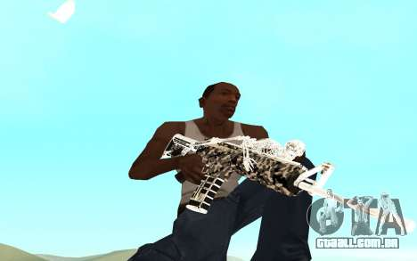 Skeleton Weapon Pack para GTA San Andreas segunda tela