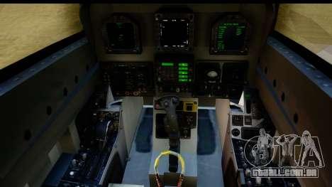 FA-18D VFA-103 Jolly Rogers para GTA San Andreas vista interior