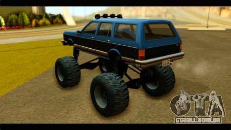 Monster Regina para GTA San Andreas esquerda vista