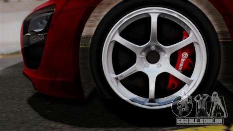 Audi R8 V10 v1.0 para GTA San Andreas traseira esquerda vista