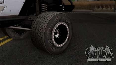 Jeep Wrangler 2013 Fast & Furious Edition para GTA San Andreas traseira esquerda vista