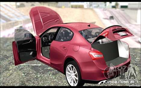 Maserati Ghibli 2014 para GTA San Andreas traseira esquerda vista