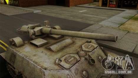 T57 Self Propelled Gun para GTA San Andreas vista direita