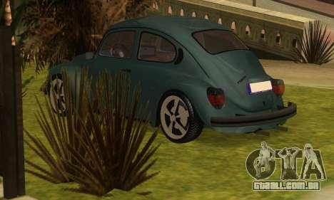 Volkswagen Beetle 1984 para GTA San Andreas esquerda vista