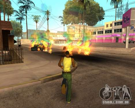 Rainbow Effects para GTA San Andreas nono tela