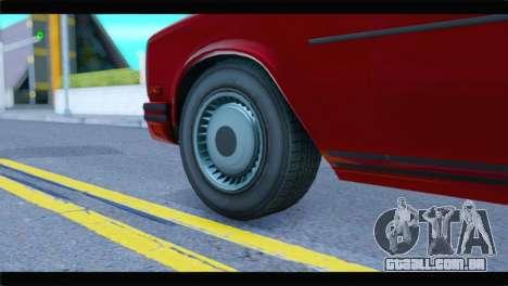 GTA 5 Benefactor Glendale Special IVF para GTA San Andreas traseira esquerda vista