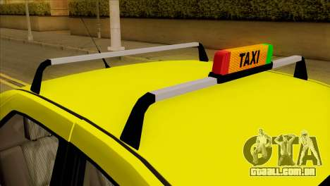 Dacia Logan Taxi para GTA San Andreas vista traseira