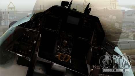 F-16C TNI Angkatan Udara para GTA San Andreas vista traseira