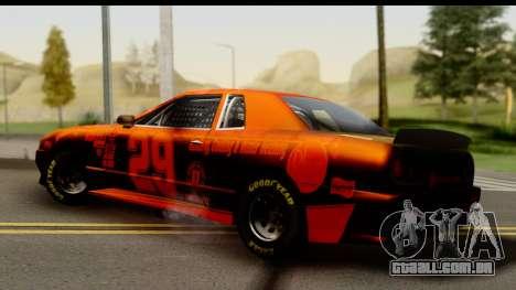 Elegy NASCAR para GTA San Andreas traseira esquerda vista