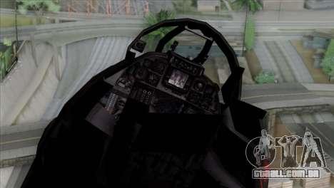 F-14 China Air Force para GTA San Andreas vista traseira