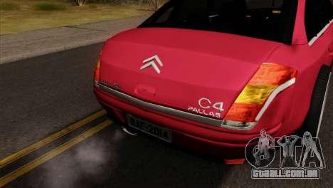 Citroen C4 Sedan para GTA San Andreas vista direita
