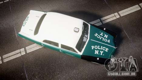 Ford Custom Fordor 1949 New York Police para GTA 4 vista direita