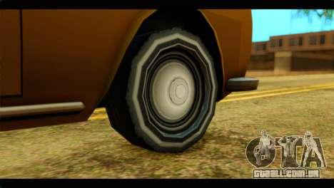 Stafford Limousine para GTA San Andreas traseira esquerda vista