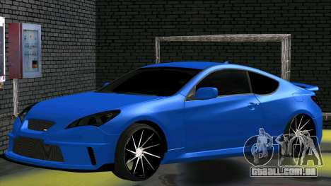 Hyundai Genesis Coupe para GTA San Andreas traseira esquerda vista