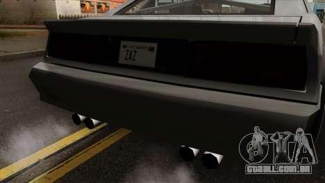 Buffalo Supercharged para GTA San Andreas vista traseira