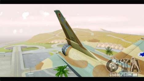 F-16A Netz para GTA San Andreas traseira esquerda vista