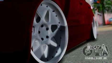 Volkswagen Jetta Stance para GTA San Andreas vista traseira