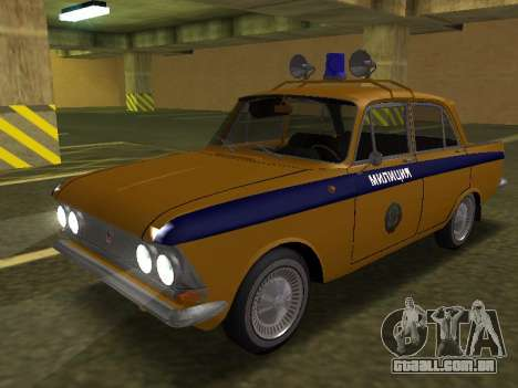 Moskvich 408 Polícia para GTA San Andreas